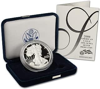 2008 w american silver eagle proof