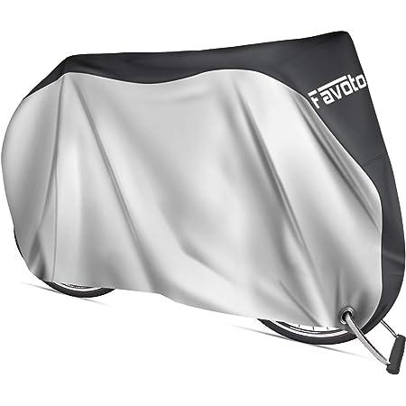 Favoto Funda para Bicicleta Exterior, 210D Oxford Cubierta Protector Impermeable al Aire Libre contra Lluvia/UV/Polvo/Nieve con Orificio de Bloqueo para Montaña Carretera, 200x70x110cm