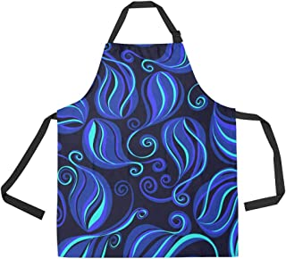 Durable Sea Cucumber Sea Creature Color All Over Print Apron with an Adjustable Neck&Two Spacious Front Pocketst Unisex Kitchen Home Restaurant Apron for Baking Gardening