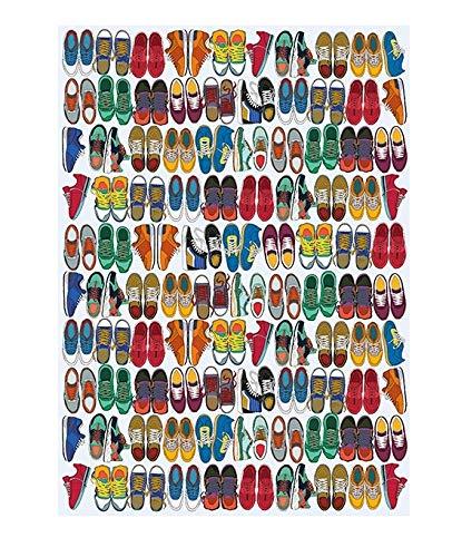 The Art File Bogen von Arty Designer-Geschenkpapier, farbenfrohe Turnschuhe