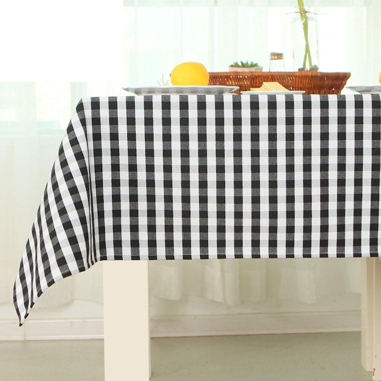 TRE TRE TRE European-Style minimalistischen schwarz-weiß kariert Tischdecke Stoff Tischdecke decke Tischdecken  Tischtuch-A 140x220cm(55x87inch) B01N7K5IDX 779347