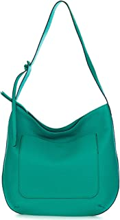 c069a58763d Gianni Chiarini Italian Made Green Pebbled Leather Large Slouchy Hobo Bag
