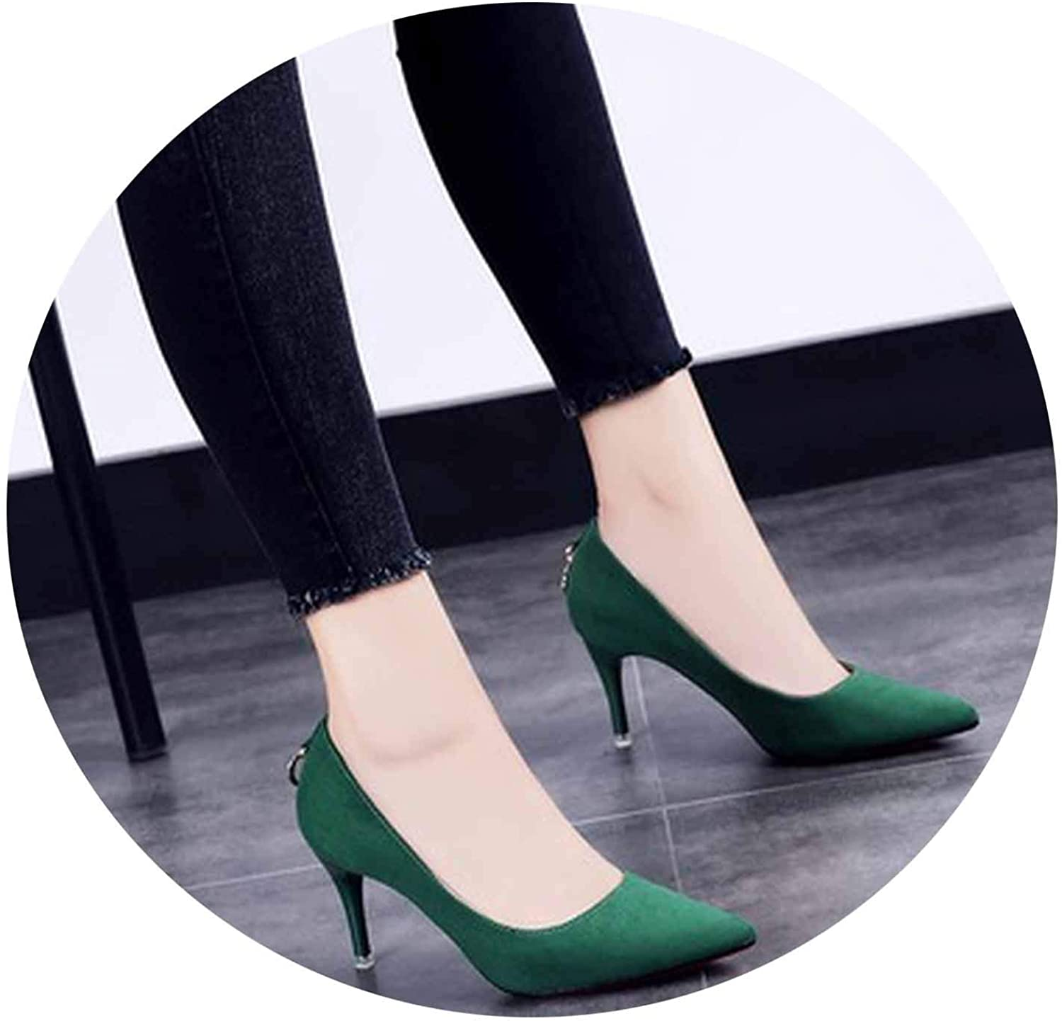 Autumn high-Heeled shoes Women's fine with Pointed Wild Black Women's shoes -1