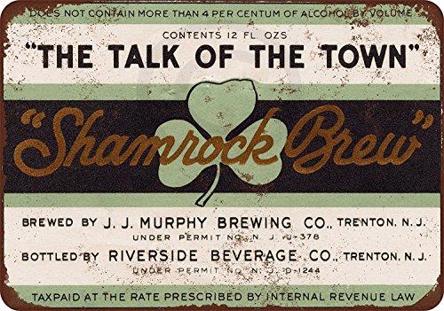 Custom Kraze 1933 Murphy Trifoglio Brew Birra Vintage Riproduzione Metal Sign 8x12