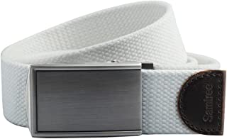 """Shanxing Canvas Belts for Men,Military Style Webbing Belt with Automatic Buckle,42"""" Strap Length"""