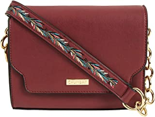 Chumbak Tropical Vines Crossbody Bag -Maroon - Stylish Women's Purse, Over the Shoulder Bag for Girls, Fashion Handbag, Cr...
