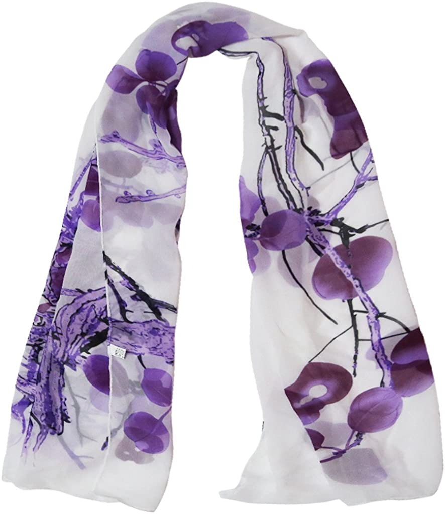 Alysee Women Chinese Classic 67% OFF trust of fixed price Style Scarf Print Neck Chiffon Long