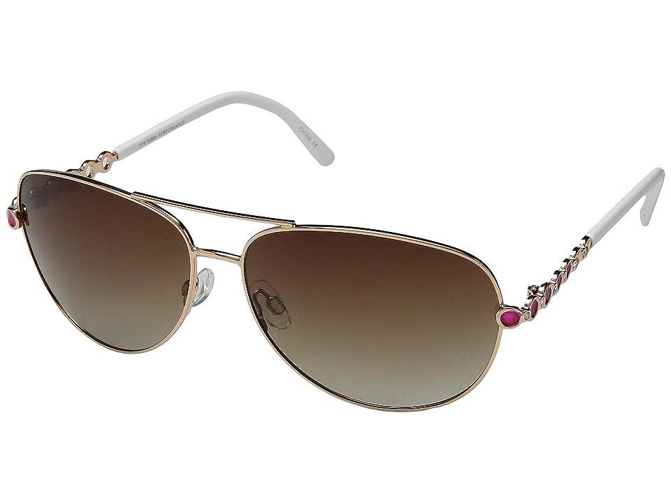 Retro Sunglasses | Vintage Glasses | New Vintage Eyeglasses Steve Madden Polarized Livey Gold FrameBrown Lens Fashion Sunglasses $50.00 AT vintagedancer.com