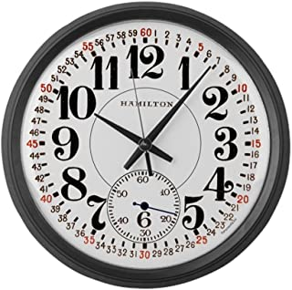 "CafePress - Hamilton Railroad Pocket Watch - Large 17"" Round Wall Clock, Unique Decorative Clock"