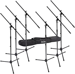 On-Stage MSP7706 Euroboom Microphone Stands with Travel Bag, 6 Pack