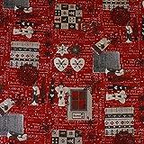 Hans-Textil-Shop Stoff Meterware Winter Weihnachten