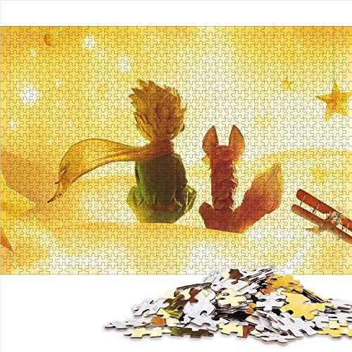 Visionpz Puzzle de 1000 Piezas para Adultos y Adolescentes Principito Juegos de Rompecabezas de Temas Anime Rompecabezas Juegos Familiares a Gran Escala,Regalos para Familiares y Amigos. 38x26cm