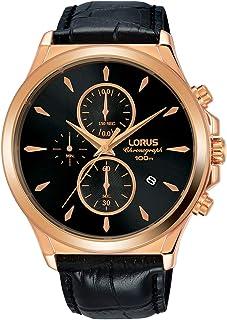 لوراس ساعة للرجال - حزام جلد - RM398EX9
