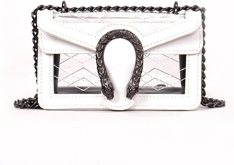 4c1993f6bcb3 Fashion Handbags for Women PU Handbag Pure color Transparent Small ...