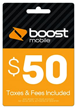 Boost Mobile $50.00 Reboost Refill Card(Mail Delivery)
