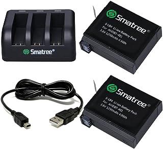 Smatree GoPro HERO4用 バッテリー2個+USBバッテリーチャージャー(3チャンネル充電器)