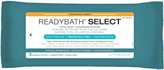 Medline ReadyBath Select Antibacterial Body Cleansing Cloth Wipes, Fragrance Free, Medium Weight Wipes (8 Count Pack, 30 Packs)