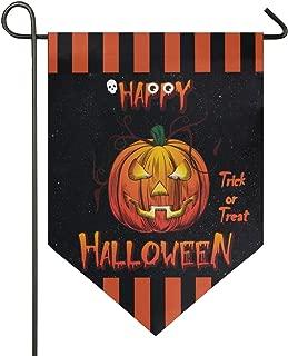 Oarencol Happy Halloween Jack Lantern Pumpkin Garden Flag Trick or Treat Star Double Sided Home Yard Decor Banner Outdoor 12.5 x 18 Inch