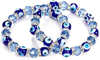 RagBear Evil Eye Bead Bracelet Meaning Beaded Black Beads Crystal Glass Gold