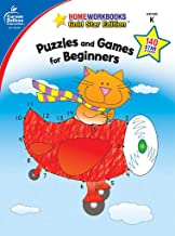 Puzzles and Games for Beginners, Grade K (Home Workbooks)