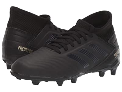 adidas Kids Predator 19.3 FG J Soccer (Little Kid/Big Kid) (Black/Gold Metallic) Kids Shoes