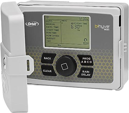 Orbit 57950 B-hyve Smart 12-Zone Indoor/Outdoor Sprinkler Controller, Compatible with Alexa