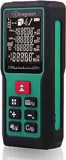 Enegitech Laser Distance Meter 50m/165ft, Portable Handheld Digital Laser Measure Tool Rangefinder with Electronic Angle Sensor for Area, Volume, Pythagorean Measurement