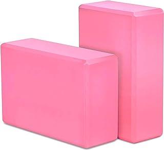 ANYJOY Yoga Blocks 2 Pack - EVA Foam Block Soft Non-Slip Surface for Yoga, Pilates and Meditation