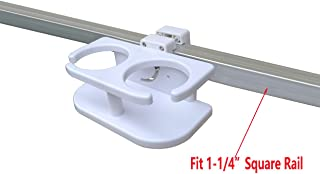 Brocraft Pontoon Boat Drinks Holder/Pontoon Boat Cup Holder/Square Rail Cup Holder