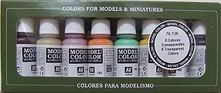 70136 Model Colour Transparent Colors 8 Colour Acrylic Paint Set