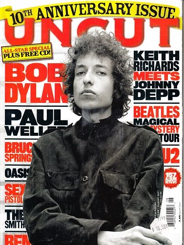 UNCUT magazine August 2007 Take 123 10th Anniversary Issue (MUSIC, MOVIES & BOOKS, Bob Dylan, The Beatles, REM, Paul Weller, Keith Richards & Johnny Depp, Bruce Springsteen)