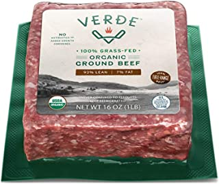 Verde Farms Organic 100% Grass-Fed Ground Beef 93/7, 1 lb