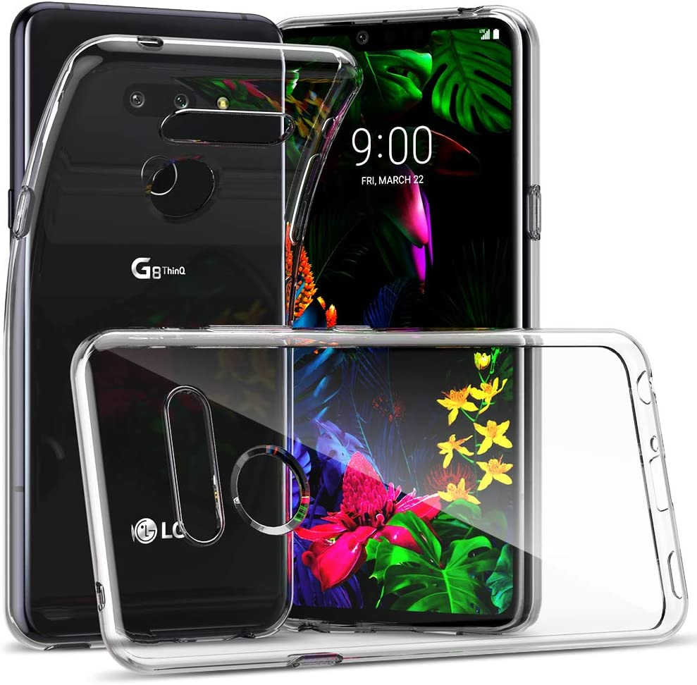CASEVASN TPU Case Compatiable with LG G8/LG G8 ThinQ, Ultra Slim Thin Shockproof Anti-Scratches Flexible TPU Gel Slim Fit Soft Skin Silicone Protective Case Cover for LG G8 / LG G8 ThinQ (Clear)