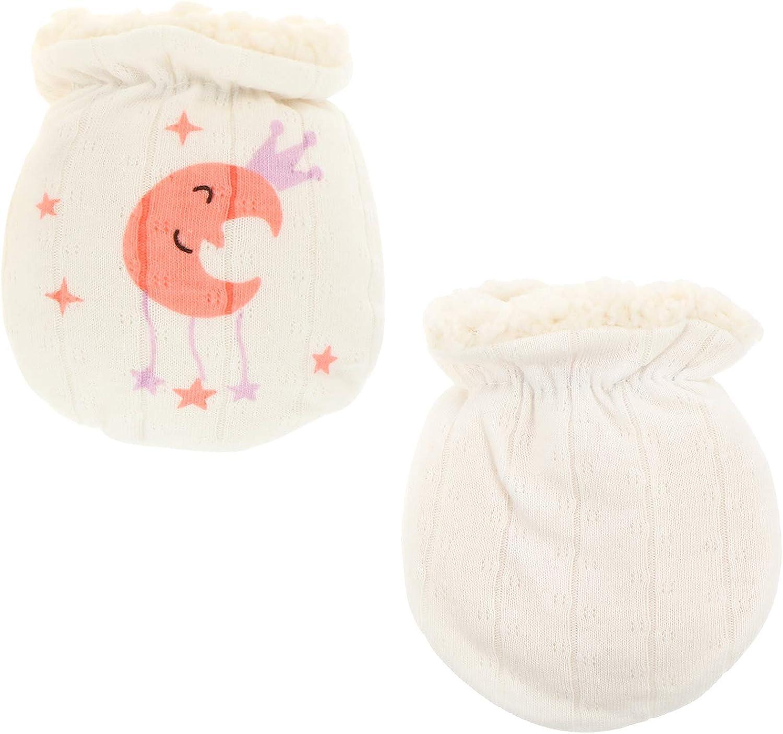 FUNZZY Mitten Gloves Winter Hand Warmer Newborn Mittens No Scratch Mittens for Babies(Moon)