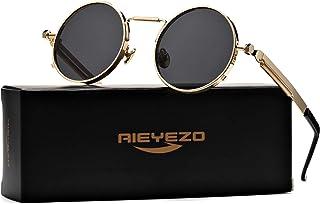 Sponsored Ad - John Lennon Glasses Round Steampunk Sunglasses Gothic Metal Frame 100% UV Blocking Lens