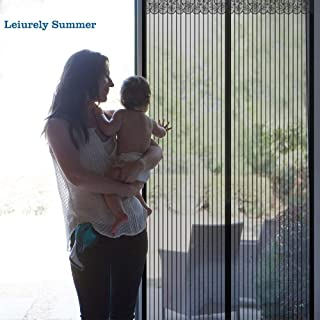 Holihifi Magnetic Screen Door, Durable Mesh Curtain with 32 Strong Magnets and Full Frame Hook & Loop Fits Door Size up to 34