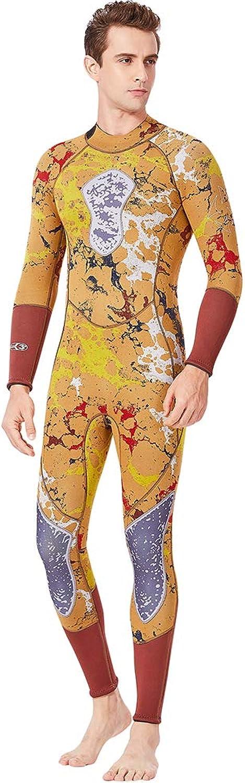 TZTED Men Full Length Wetsuit Surfing Suit 3MM Long Sleeve Suit Adjustable Neck Closure   Wetsuit for Surfing Scuba Diving