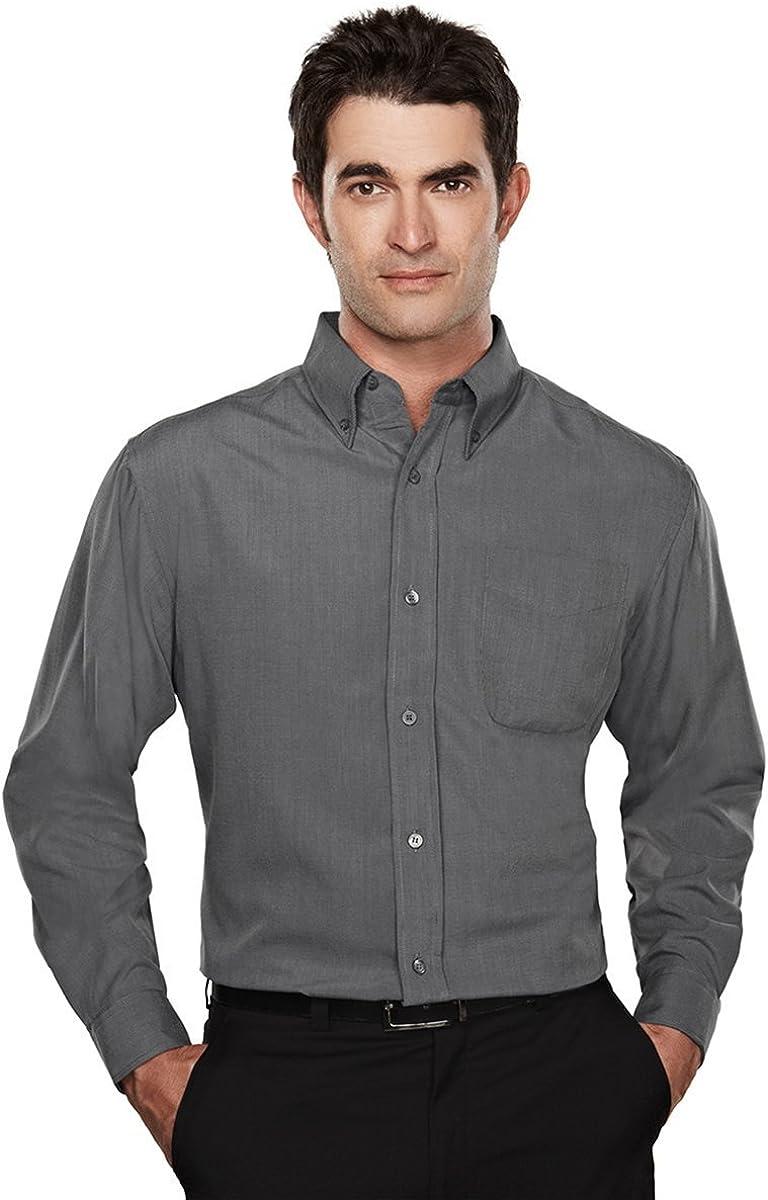 TRM Men's Convention Wrinkle Resistant Pleated Blend Shirt (12 Colors, S-6XLT)