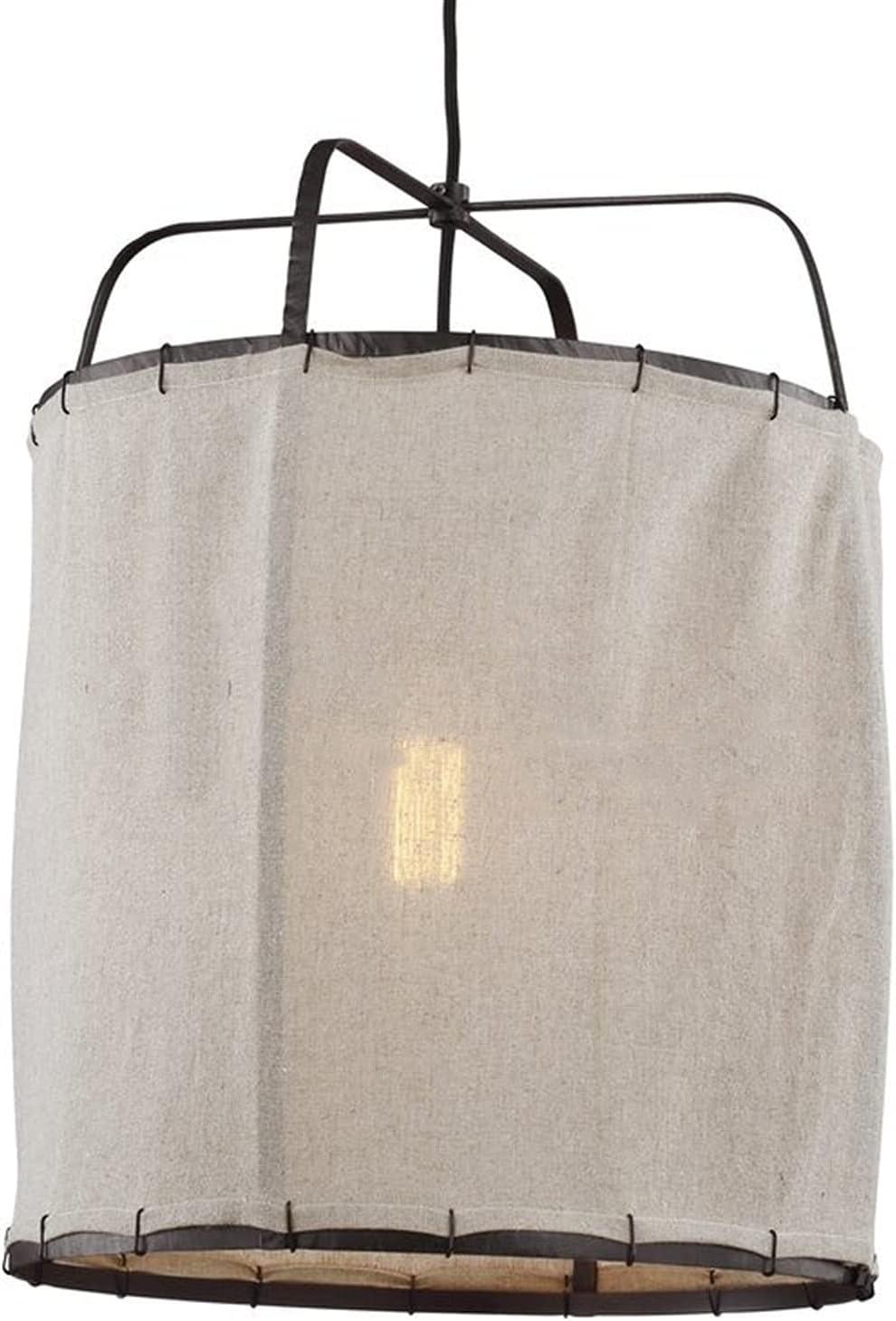 Zenghh Bohemian Turquía araña de aire caliente globo linterna e27 lámpara colgante hierro jaula de hierro tejido tela de tela toscana retro decoración techo colgando luz para la sala de cama de la cam