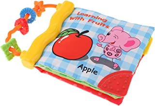 MagiDeal Baby Soft Activity Book Toddlers First Word Learning Book, Reading in Shower or Bed - Fruit