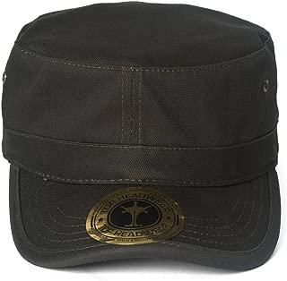 TOP HEADWEAR TopHeadwear Basic GI Adjustable Cadet Cap - Charcoal