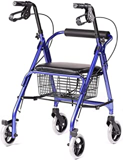Mobility Aids & Supplies Walker Four-legged Cane Folding Shopping Cart With Wheel Cushion Elderly Travel Special Trolley L...