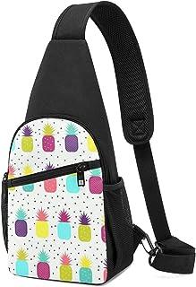 Patrón sin costuras de coloridas chanclas bandoleras, mochila ligera para el hombro, bolsa cruzada, bolsas de viaje, sende...