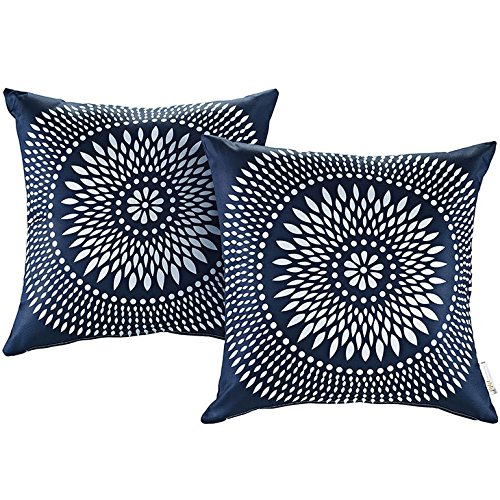 Modway 2 Piece Outdoor Patio Pillow Set, Cartouche