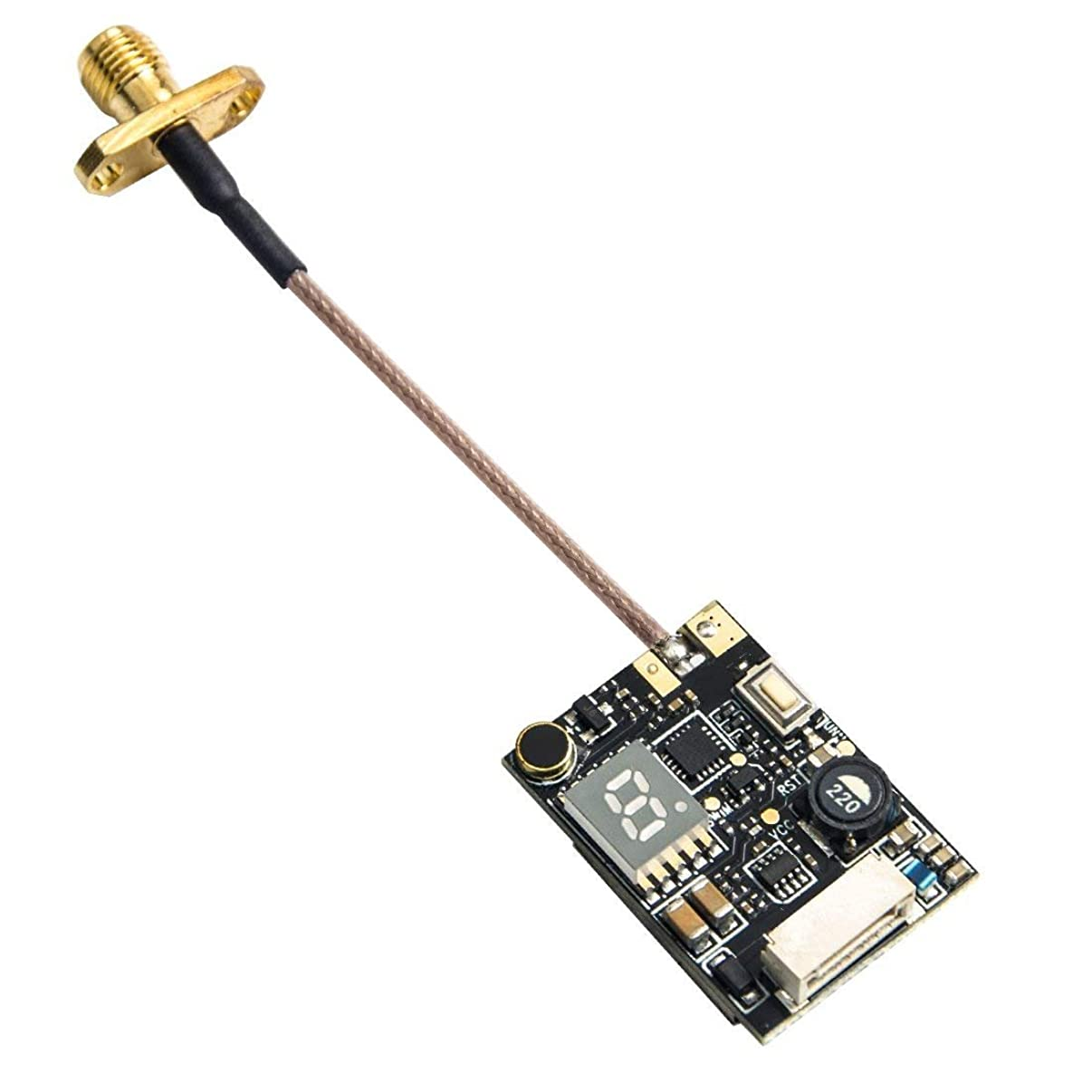 Wolfwhoop Q1-Pro 0.01/25/200/500/800mW Switchable 5.8GHz 37CH FPV Transmitter with Pigtail Antenna and FC Uart Support OSD Configuring via Betaflight Flight Controller