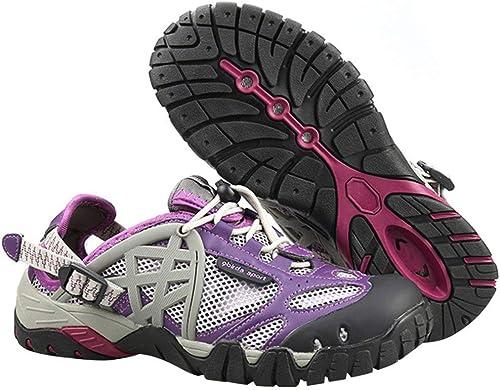 Hhor Hhor Chaussures d'escalade extérieures de Chaussures de randonnée imperméables Neutres Chaussures d'extérieur Sandales Chaussures de FonctionneHommest Chaussures de Cap (Couleuré   Violet, Taille   40EU)  grosses économies