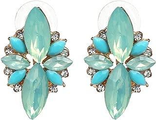 4 Colors New Fashion Hot Women Stud Earrings Crystal Vintage Korean Earrings Trendy Cute Lovely Drip Flower Shiny Wholesale