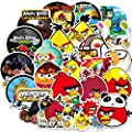 Ratgoo 100Pcs Cute Cartoon Waterproof Vinyl Graffiti Stickers Pack of Angry Birds for Motorcycle Car Luggage Phone Guitar MacBook Water Bottle Flasks Bike Laptop Motocross,Decals for Girls Kids Teens