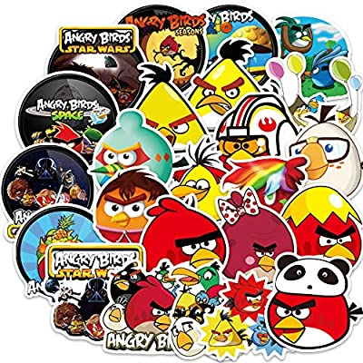 Ratgoo 100Pcs Cute Cartoon Waterproof Vinyl Graffiti Stickers Pack of Angry Birds for Motorcycle Car Luggage Phone Guitar MacBook Water Bottle Flasks Bike Laptop Motocross,Decals for Girls Kids Teens
