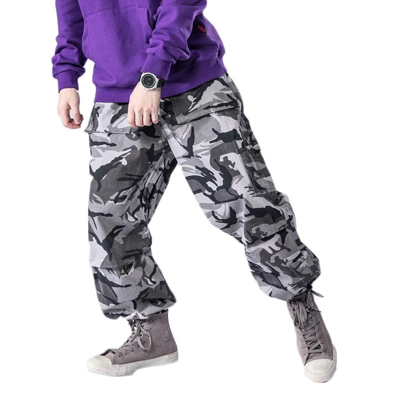 ロスコ カーゴパンツ メンズ レディース 迷彩 大きいサイズ ROTHCO 6ポケット 迷彩パンツ パンツ 迷彩 軍パン 太め ゆったり ワイド カモ サバゲー ストリート ヒップホップ ダンス 衣装 イエロー パープル オレンジ